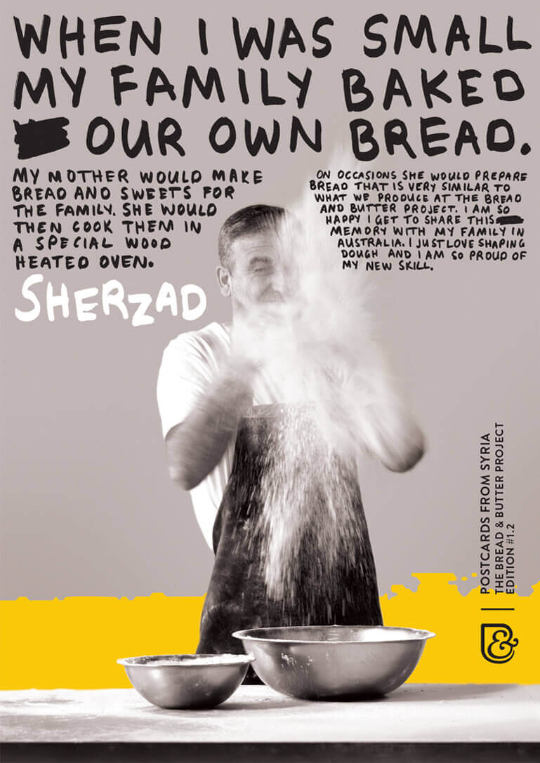 Poster: Baker hand throwing flour thumbnail
